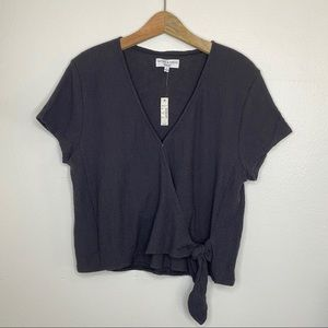Madewell NWT wrap top black size large